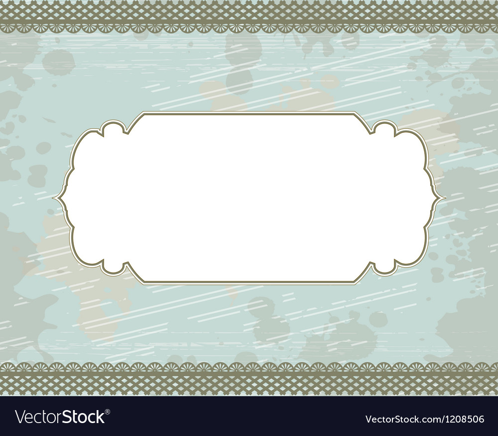 Cyan blot frame background vector | Price: 1 Credit (USD $1)