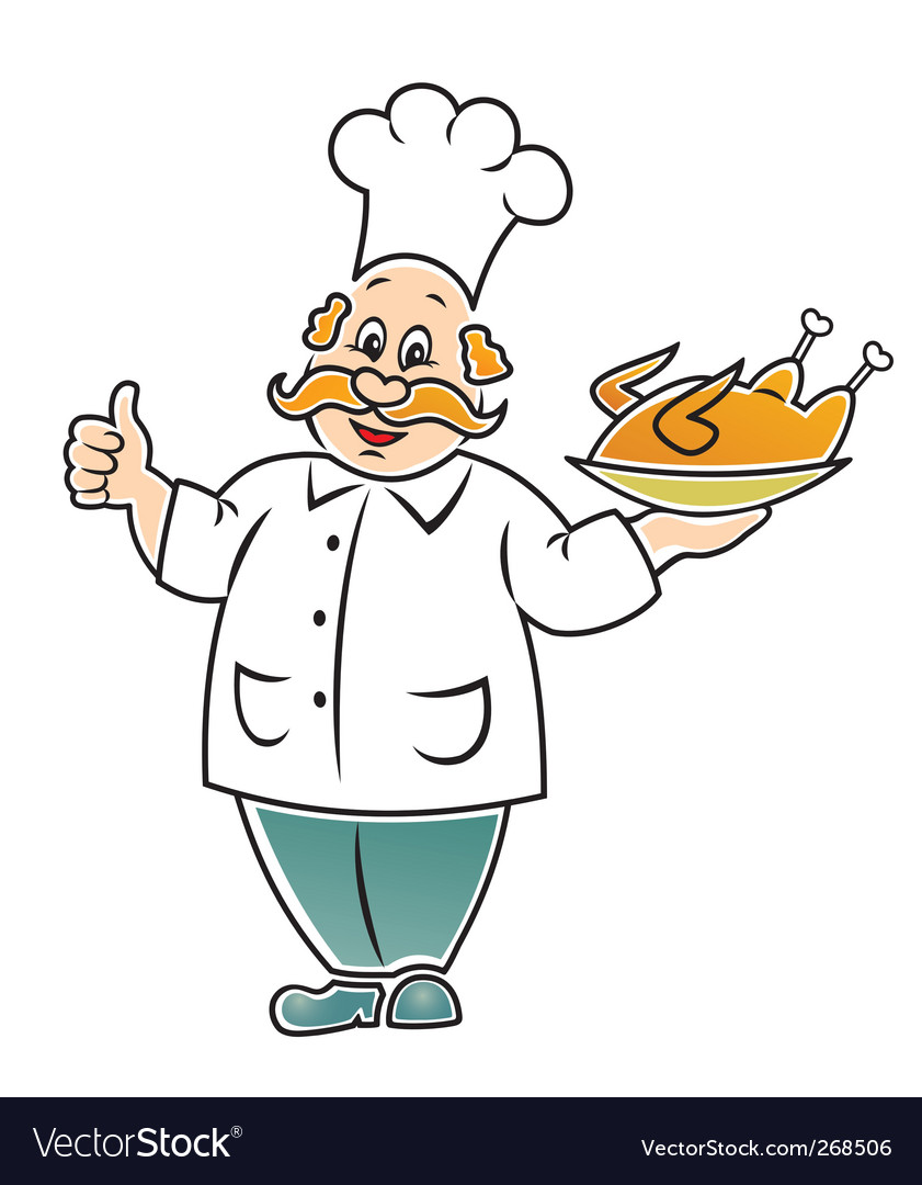Funny cook vector | Price: 1 Credit (USD $1)