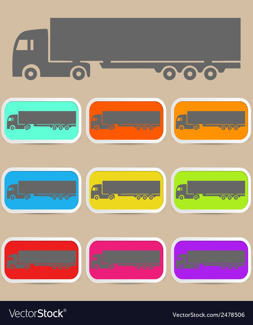 Icon trucks with refrigerator vector | Price: 1 Credit (USD $1)