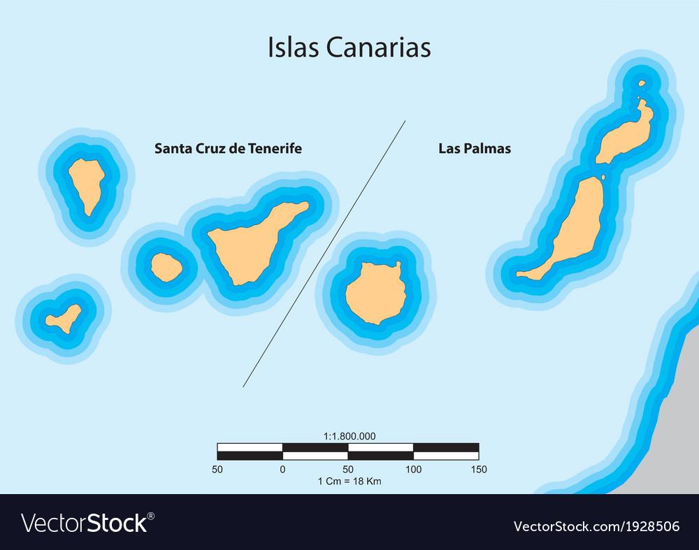 Islas canarias vector   Price: 1 Credit (USD $1)