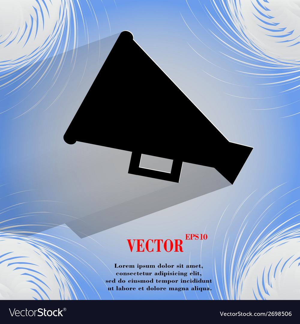 Megaphone loud-hailer icon on a flat geometric vector | Price: 1 Credit (USD $1)