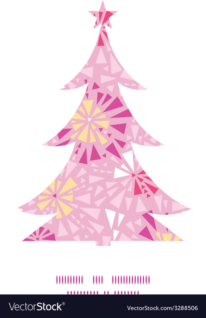 Pink abstract triangles christmas tree silhouette vector | Price: 1 Credit (USD $1)