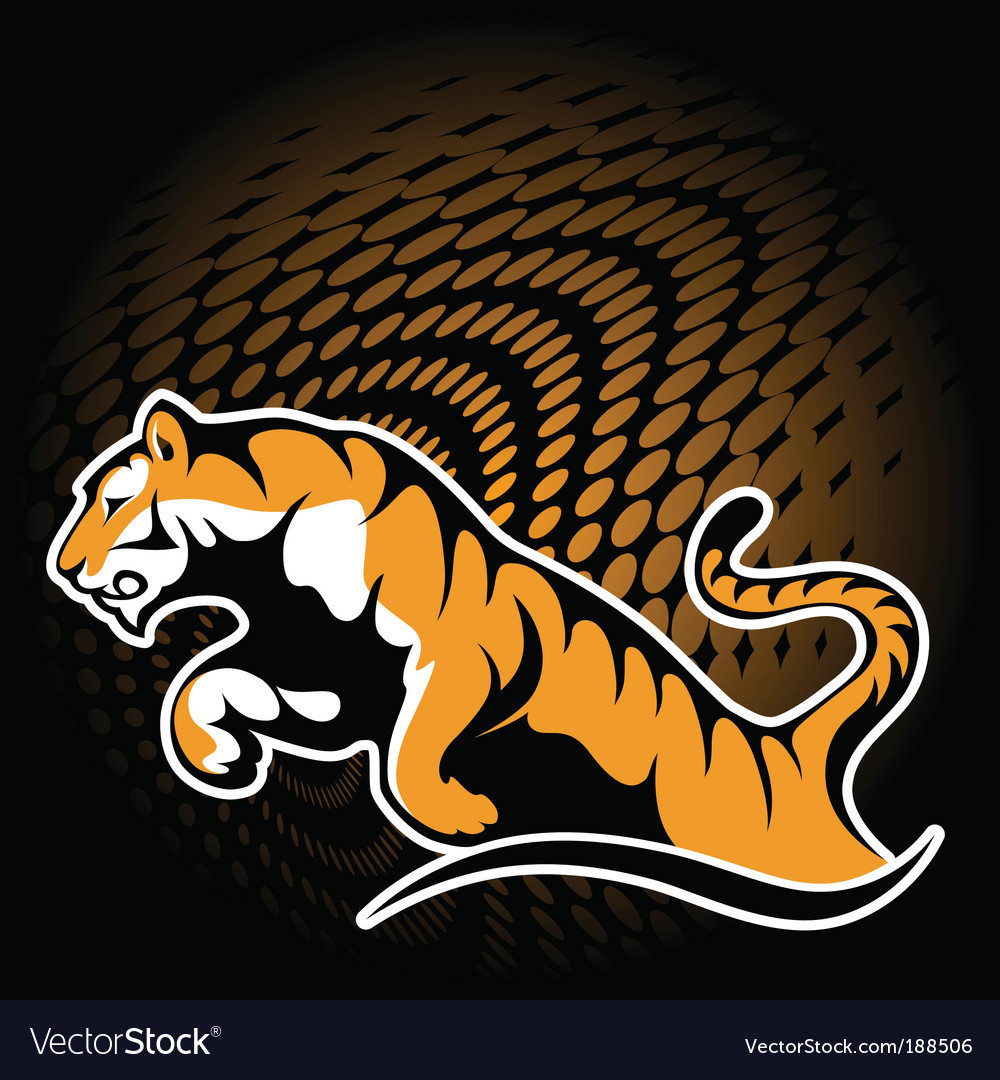 Tiger sticker vector | Price: 1 Credit (USD $1)