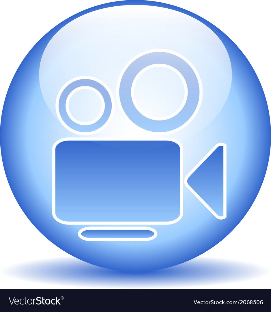 Video camera button vector | Price: 1 Credit (USD $1)