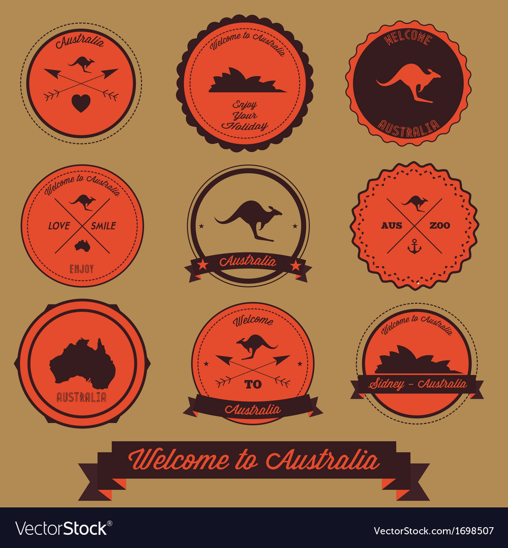 Australia label design vector | Price: 1 Credit (USD $1)