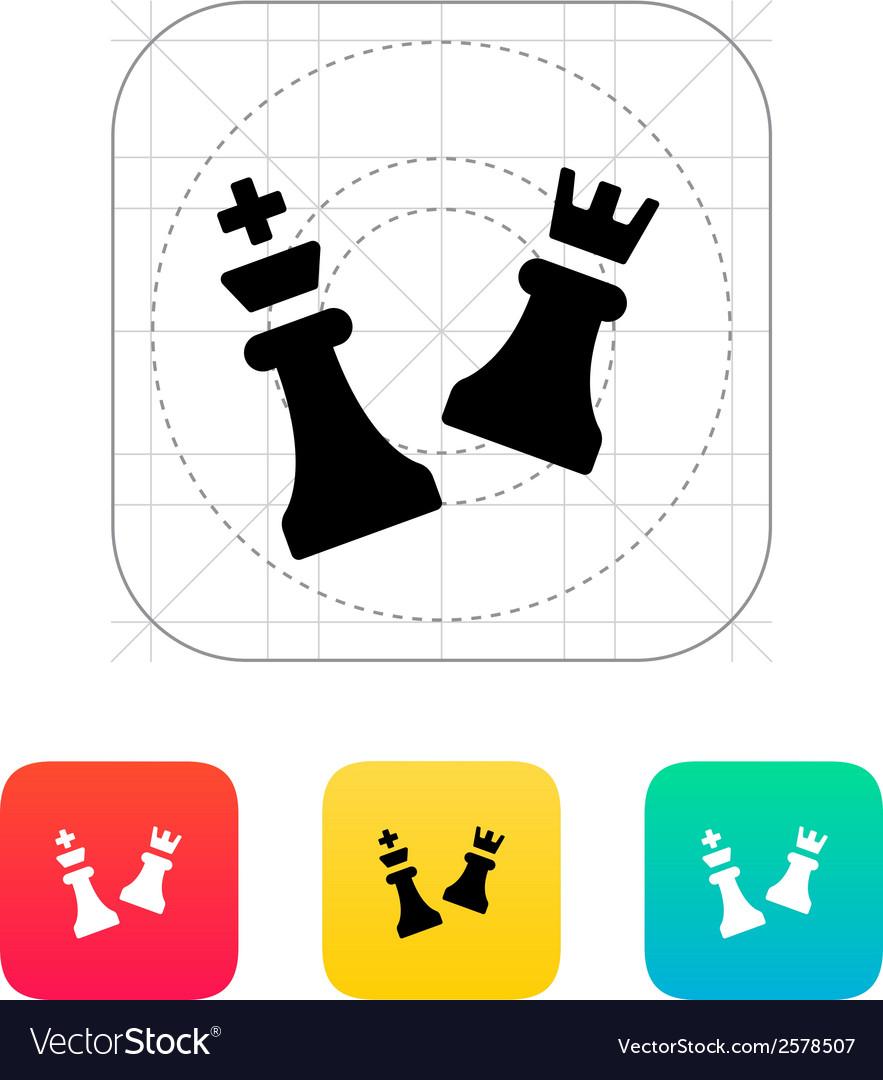 Chess attack icon vector | Price: 1 Credit (USD $1)