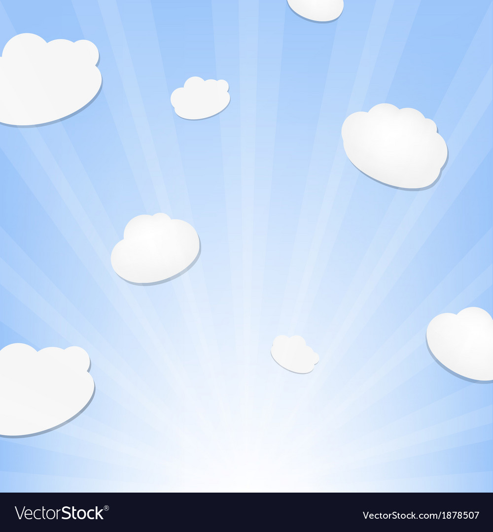 Cloud and sunburst vector | Price: 1 Credit (USD $1)