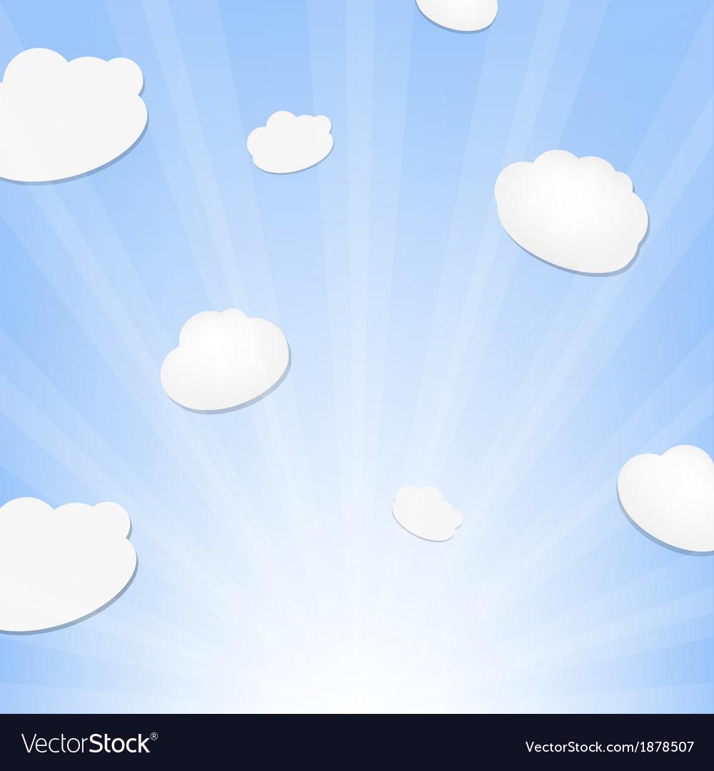Cloud and sunburst vector | Price: 1 Credit (USD $1)