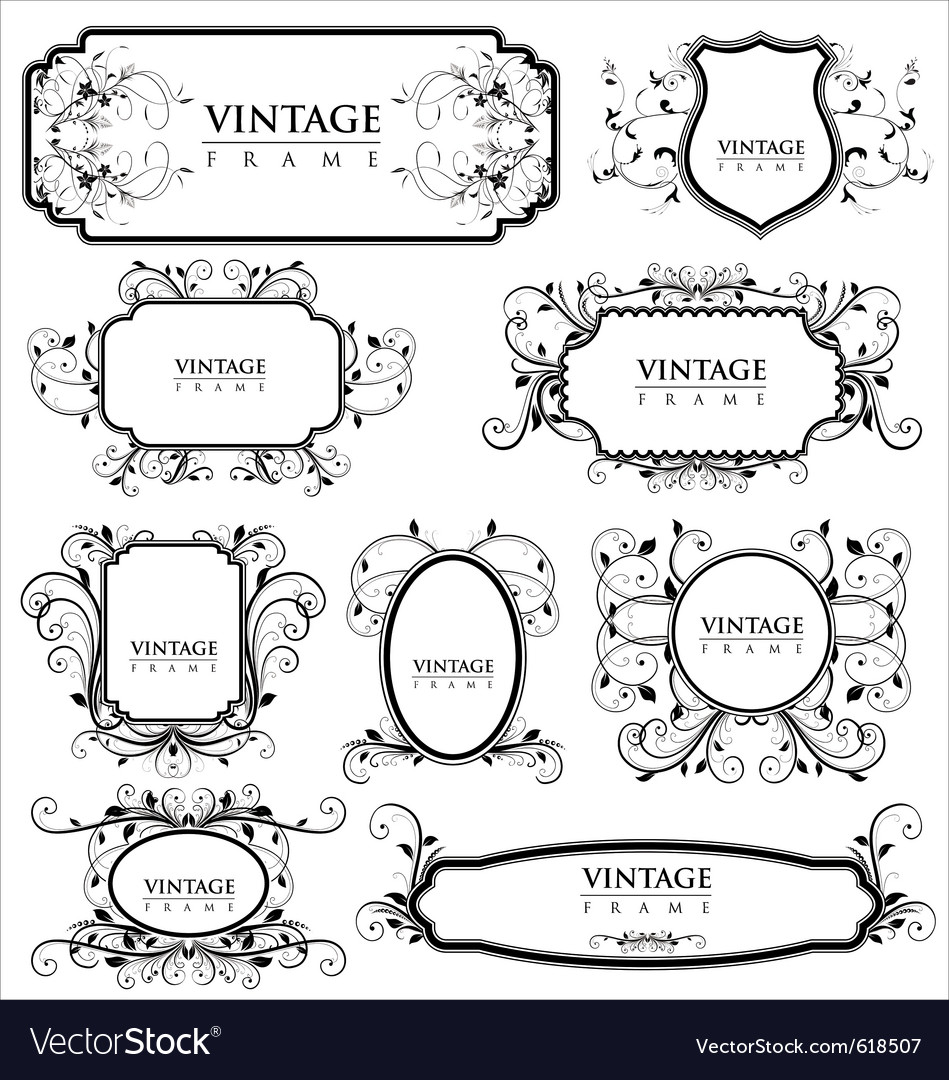 Empty vintage labels vector | Price: 1 Credit (USD $1)