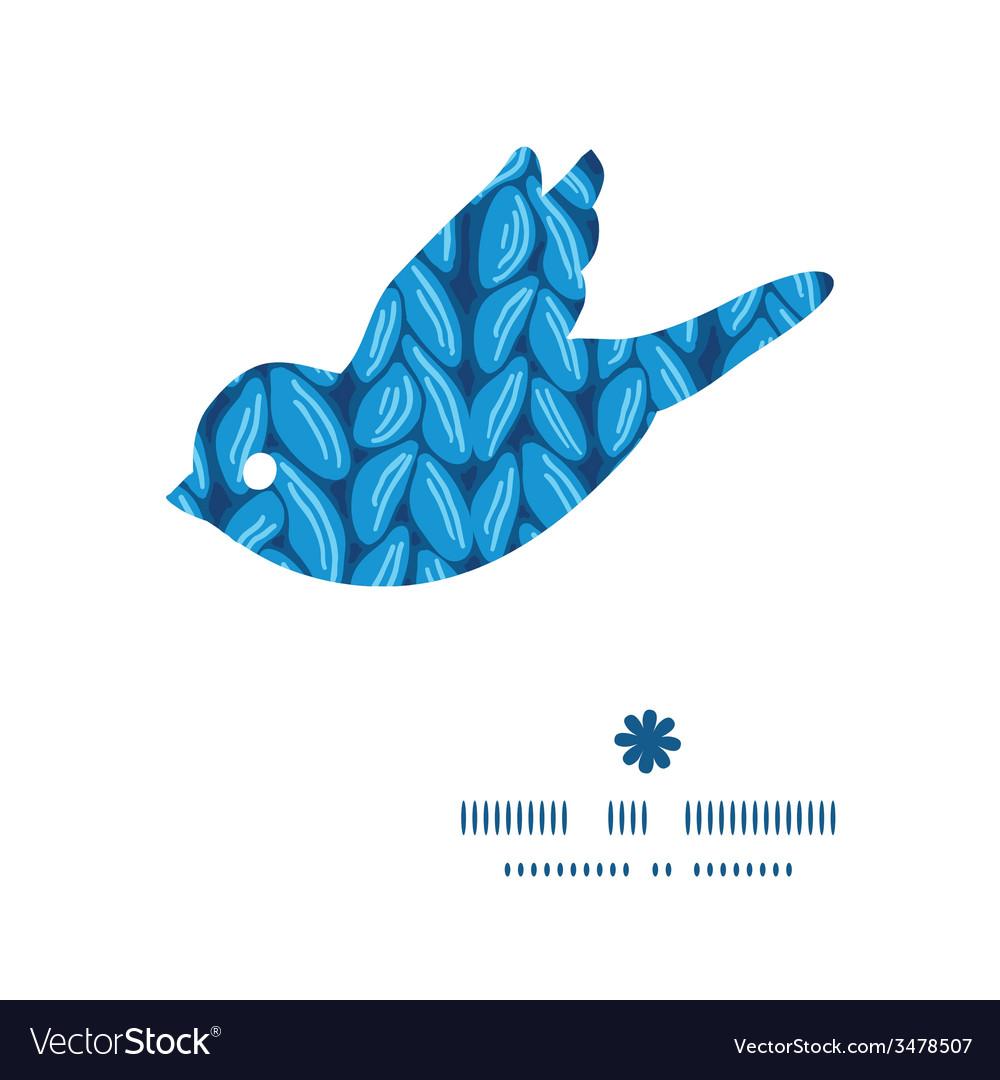 Knit sewater fabric horizontal texture bird vector | Price: 1 Credit (USD $1)