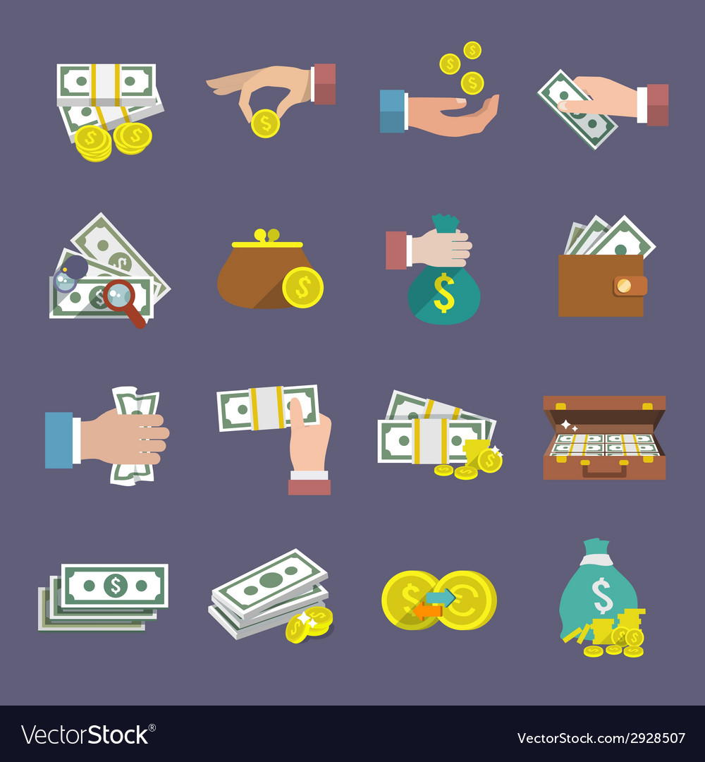 Money icon flat vector | Price: 1 Credit (USD $1)