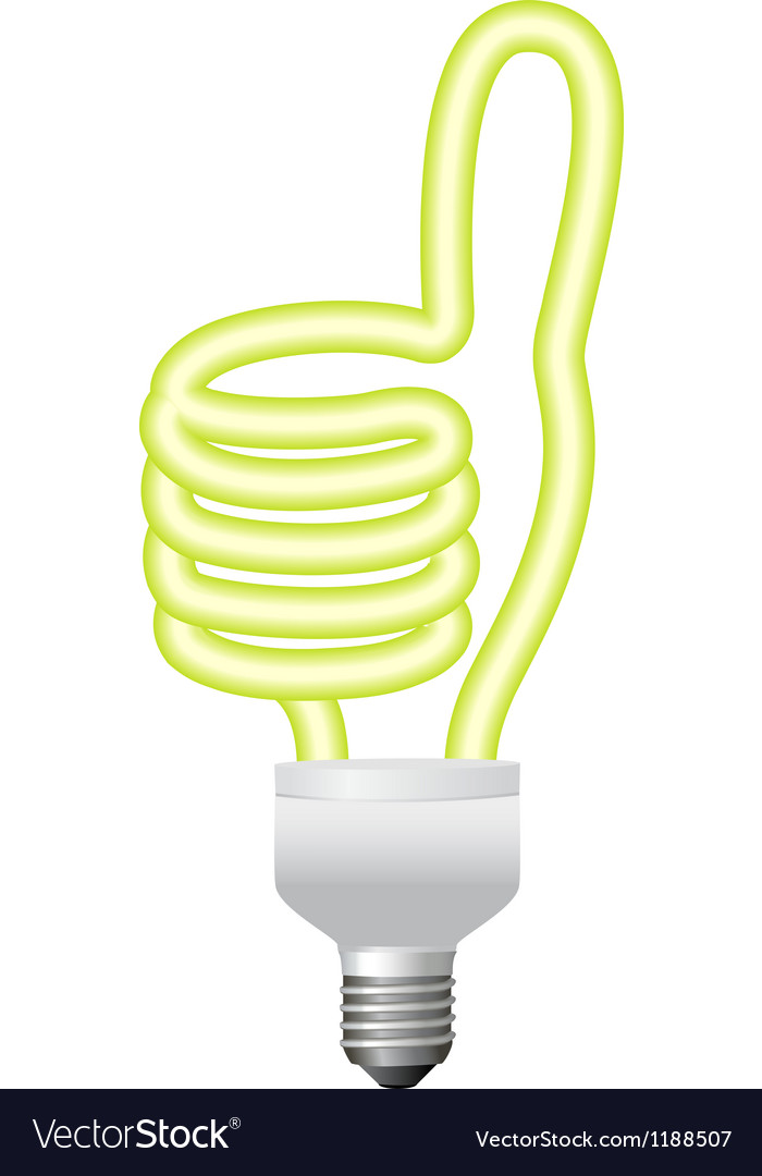 Ok hand sign energy saving bulb vector | Price: 1 Credit (USD $1)