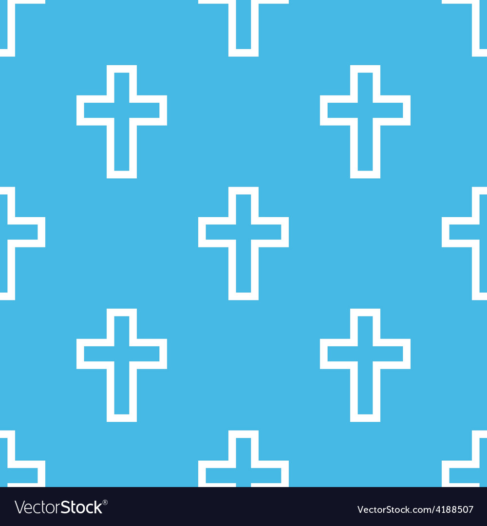 Protestant cross seamless pattern vector | Price: 1 Credit (USD $1)