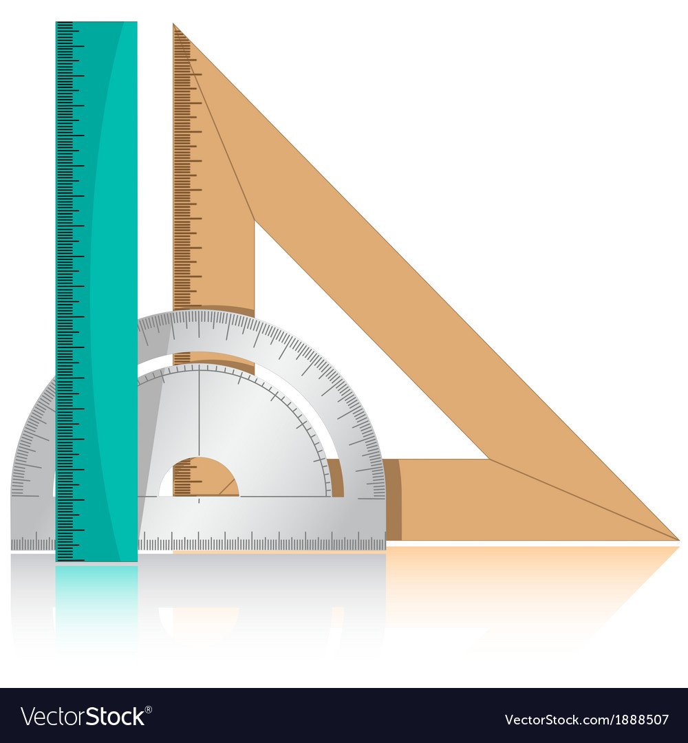 Protractor and rulers vector | Price: 1 Credit (USD $1)