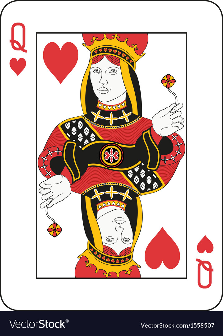 Queen of hearts vector | Price: 1 Credit (USD $1)