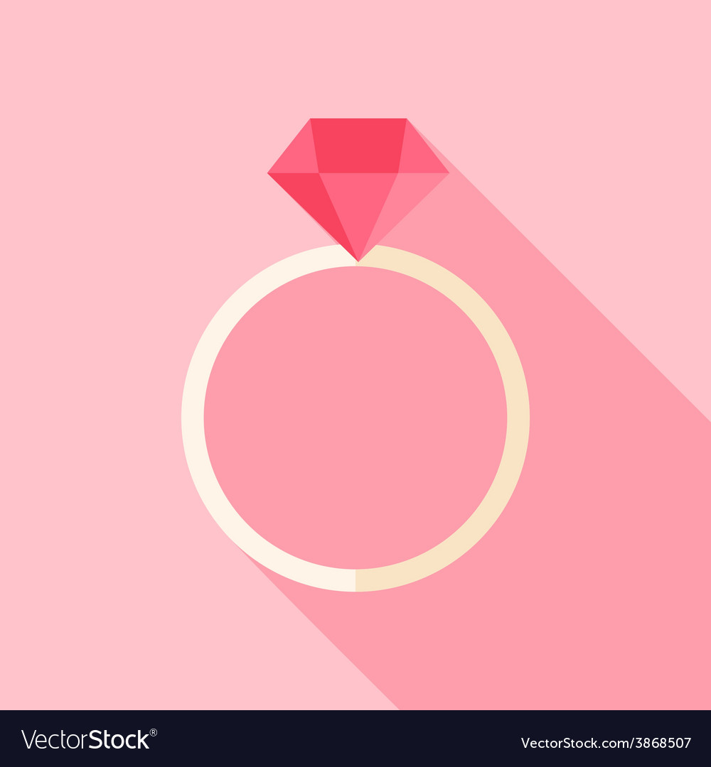 Ring with diamond vector | Price: 1 Credit (USD $1)