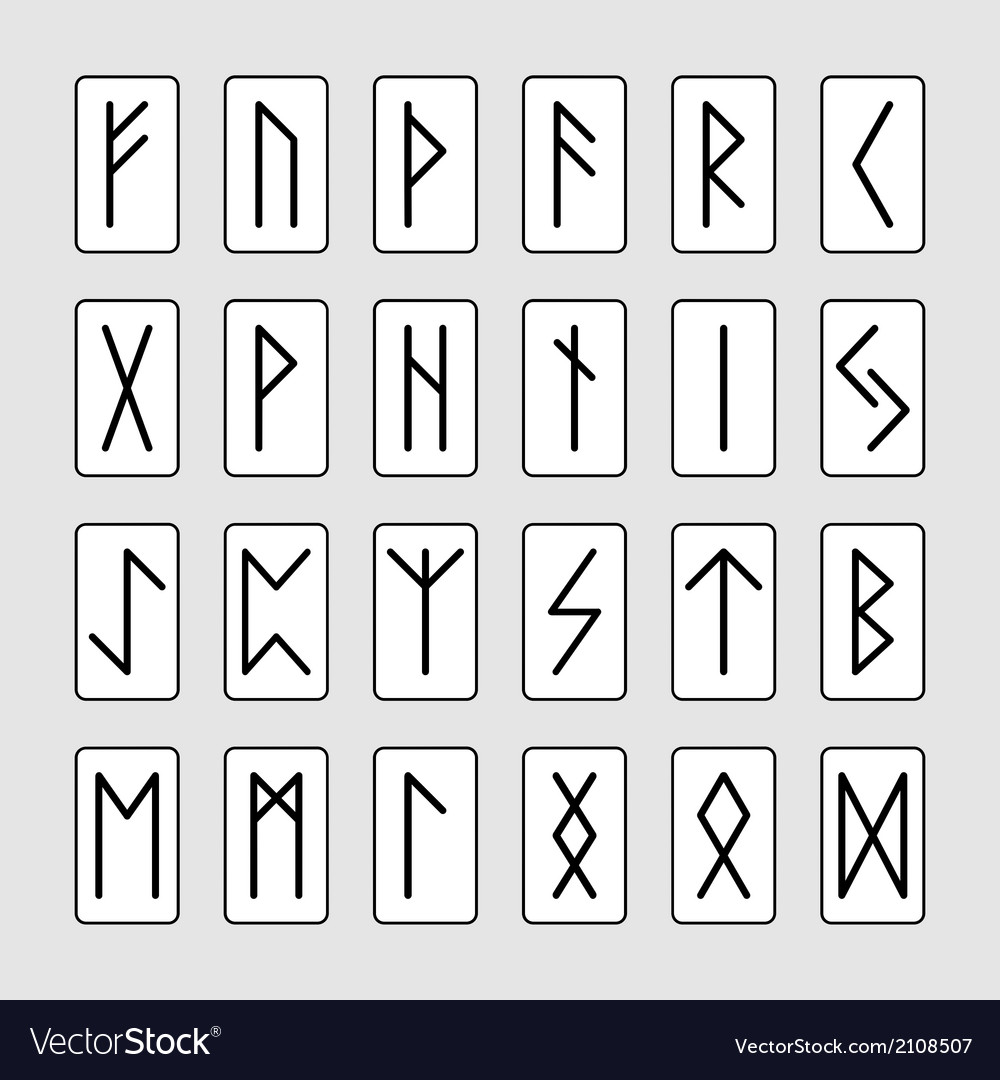 Set of signs runes vector | Price: 1 Credit (USD $1)