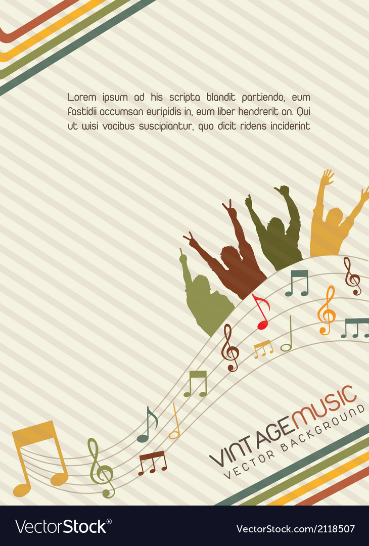 Vintage music vector | Price: 1 Credit (USD $1)
