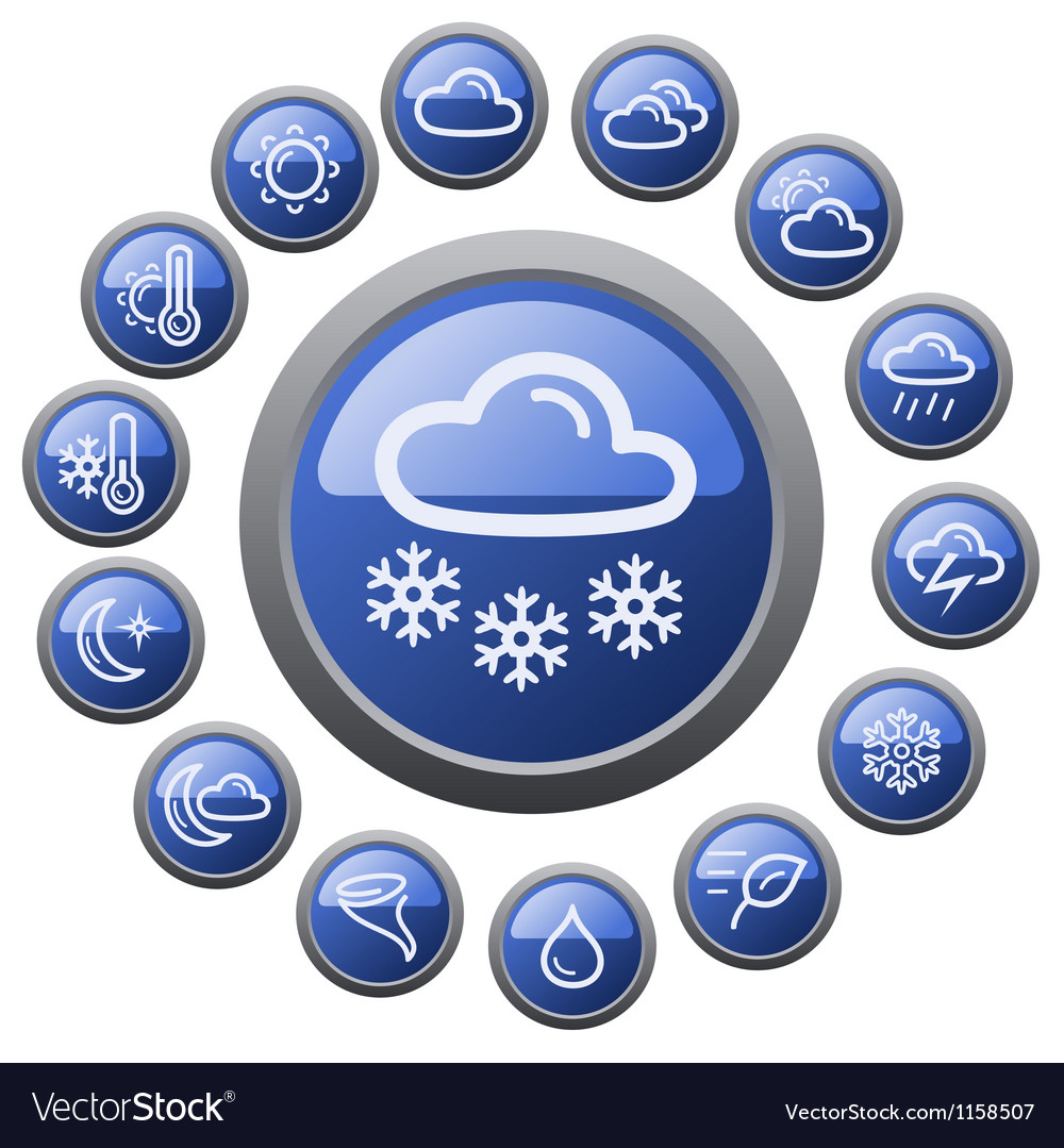 Weather buttons vector   Price: 1 Credit (USD $1)