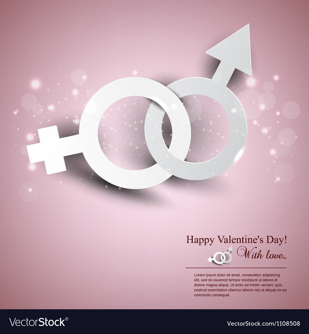 Abstract background with male female symbol vector | Price: 1 Credit (USD $1)