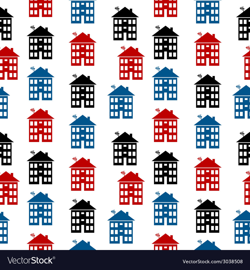 Apartment house icon seamless pattern vector | Price: 1 Credit (USD $1)