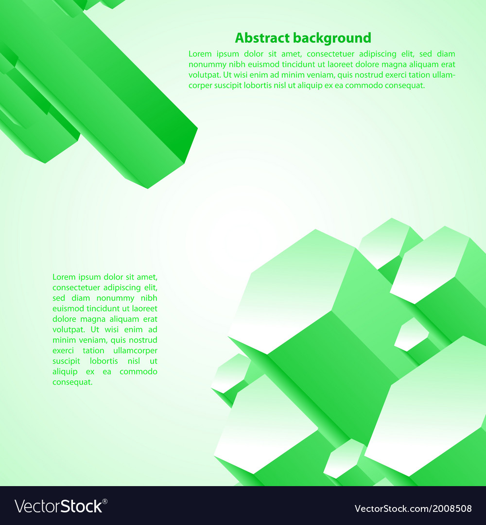 Cristal green prism for your business presentation vector | Price: 1 Credit (USD $1)