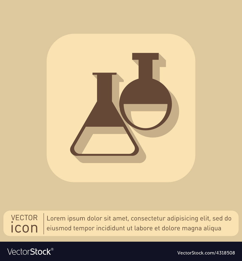 Flask bulb medicine or chemistry vector | Price: 1 Credit (USD $1)