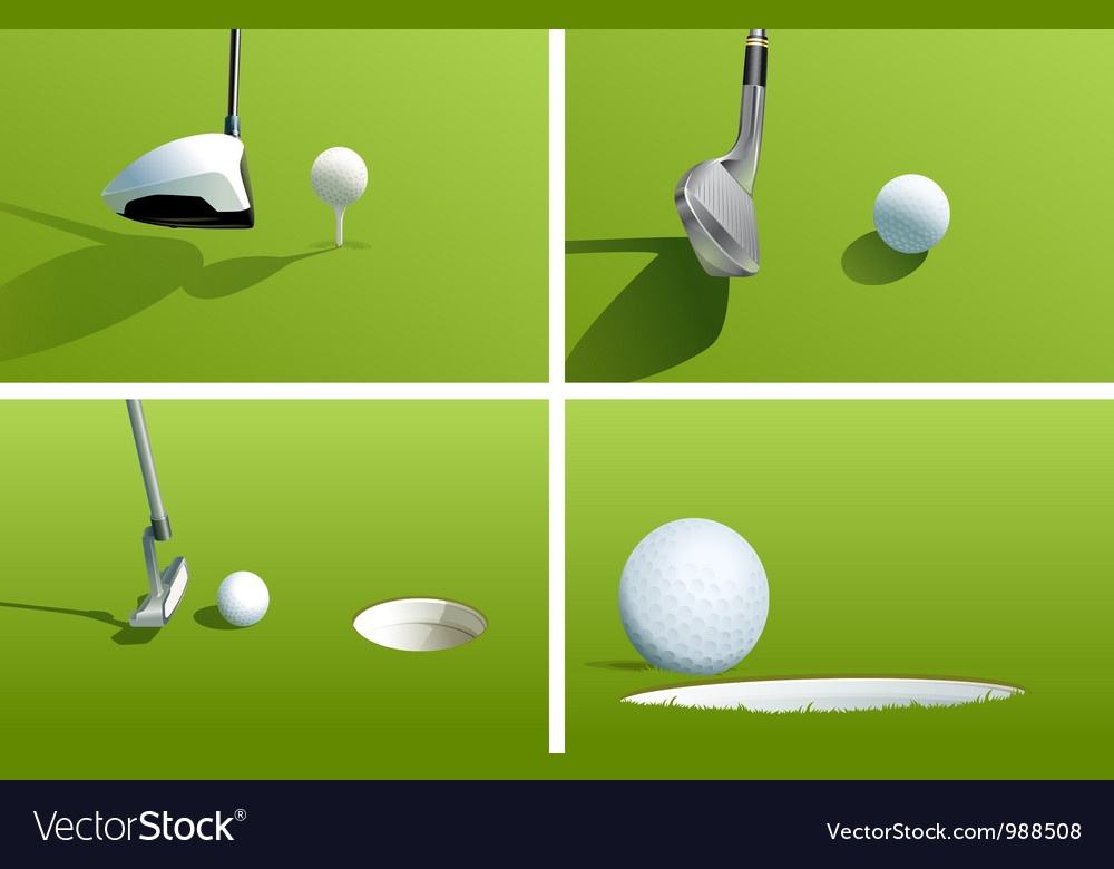 Golf series vector | Price: 1 Credit (USD $1)