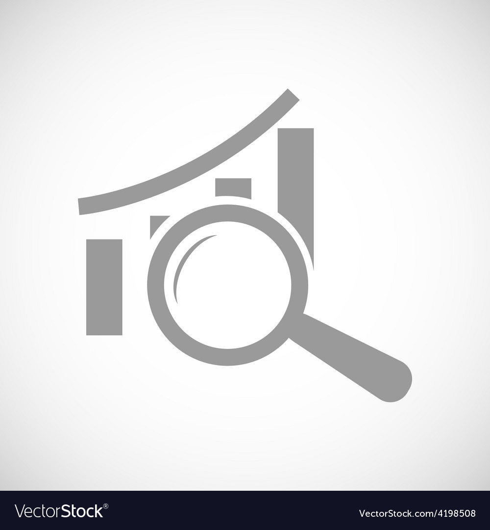 Graph scan black icon vector | Price: 1 Credit (USD $1)
