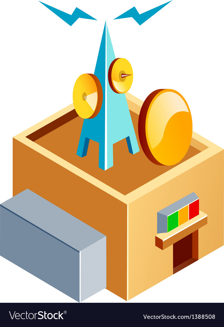 Icon broadcasting station vector   Price: 1 Credit (USD $1)