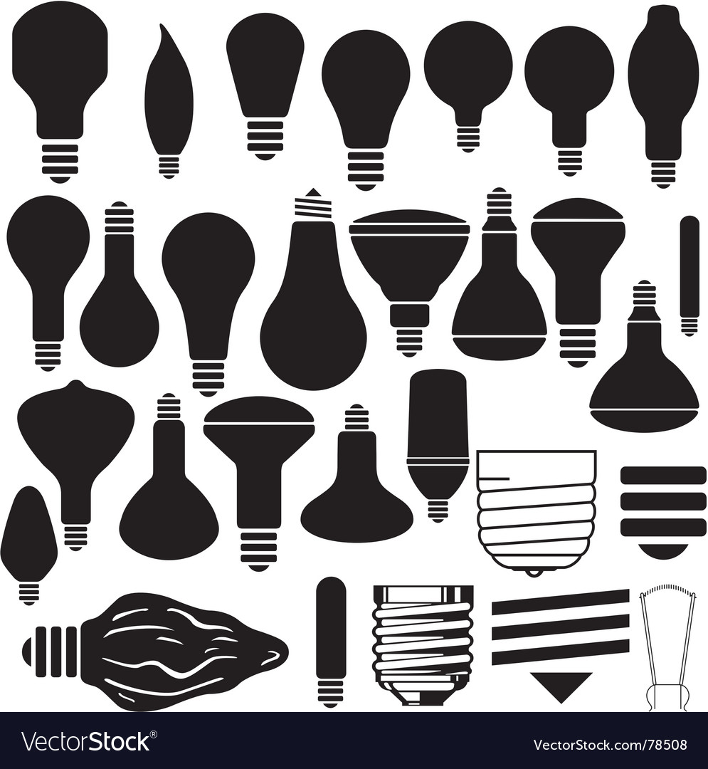 Light bulbs vector | Price: 1 Credit (USD $1)