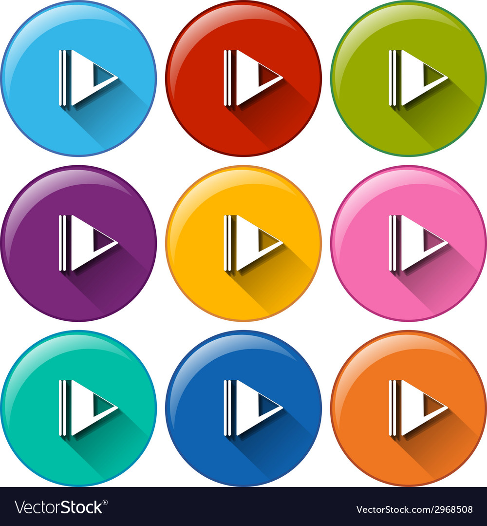Play buttons vector | Price: 1 Credit (USD $1)