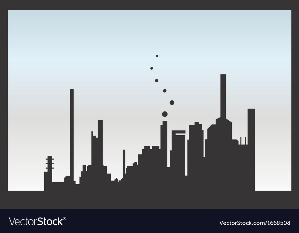 Silhouette factory isolated vector | Price: 1 Credit (USD $1)