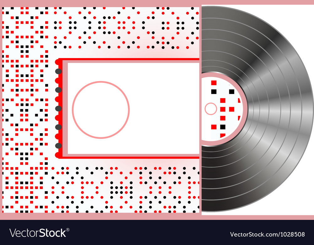 Vinyl and cover over a white background abstract vector | Price: 1 Credit (USD $1)