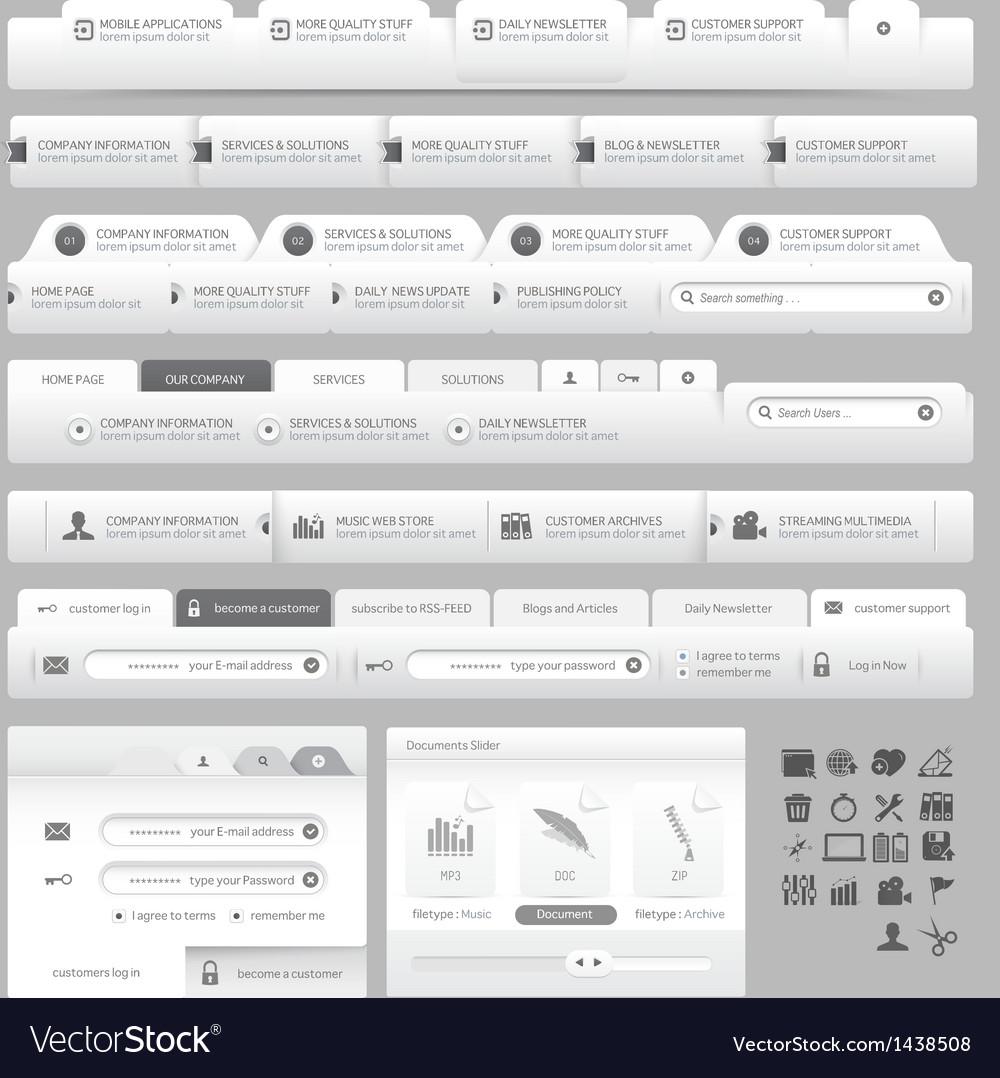 Web site design menu navigation vector | Price: 1 Credit (USD $1)