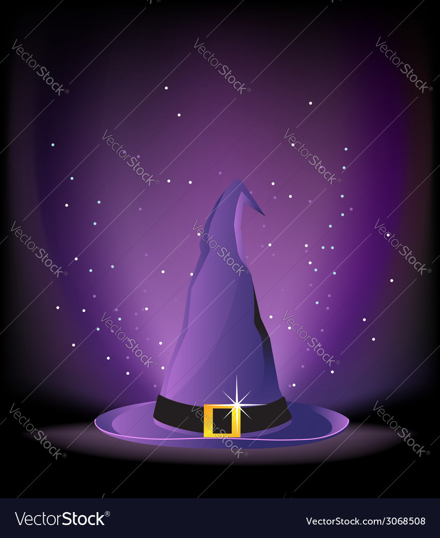 Witch hat vector | Price: 1 Credit (USD $1)