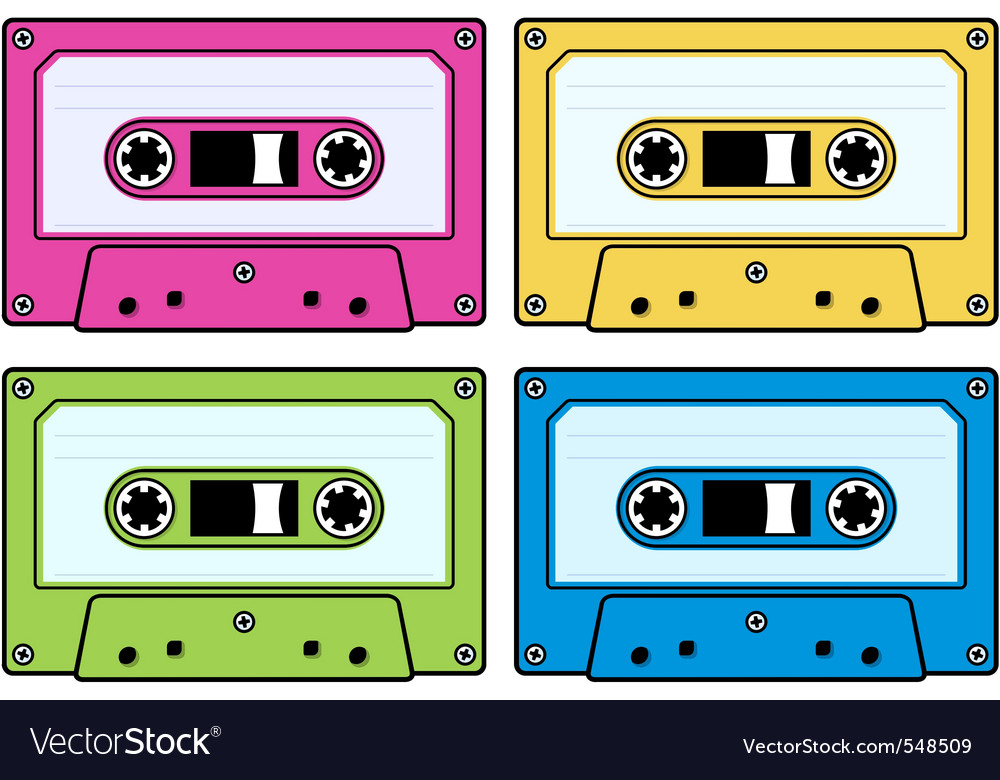 Audio cassettes vector | Price: 1 Credit (USD $1)
