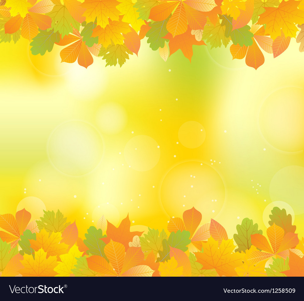 Autumn yellow frame vector | Price: 1 Credit (USD $1)