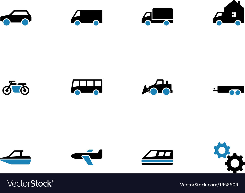 Cars duotone icons on white background vector | Price: 1 Credit (USD $1)