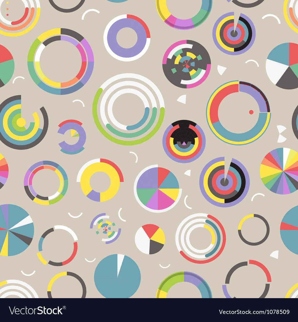 Circle chart seamless pattern vector | Price: 1 Credit (USD $1)