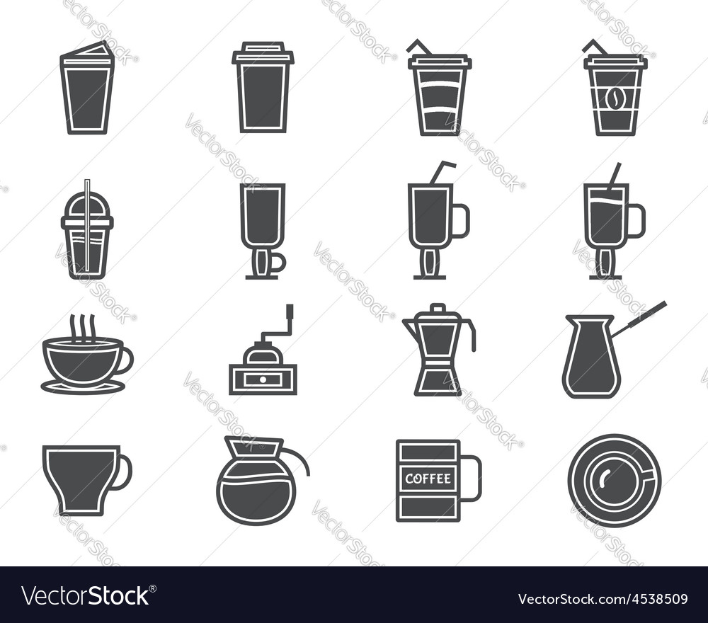 Coffee and cocktails silhouette elements and vector   Price: 1 Credit (USD $1)