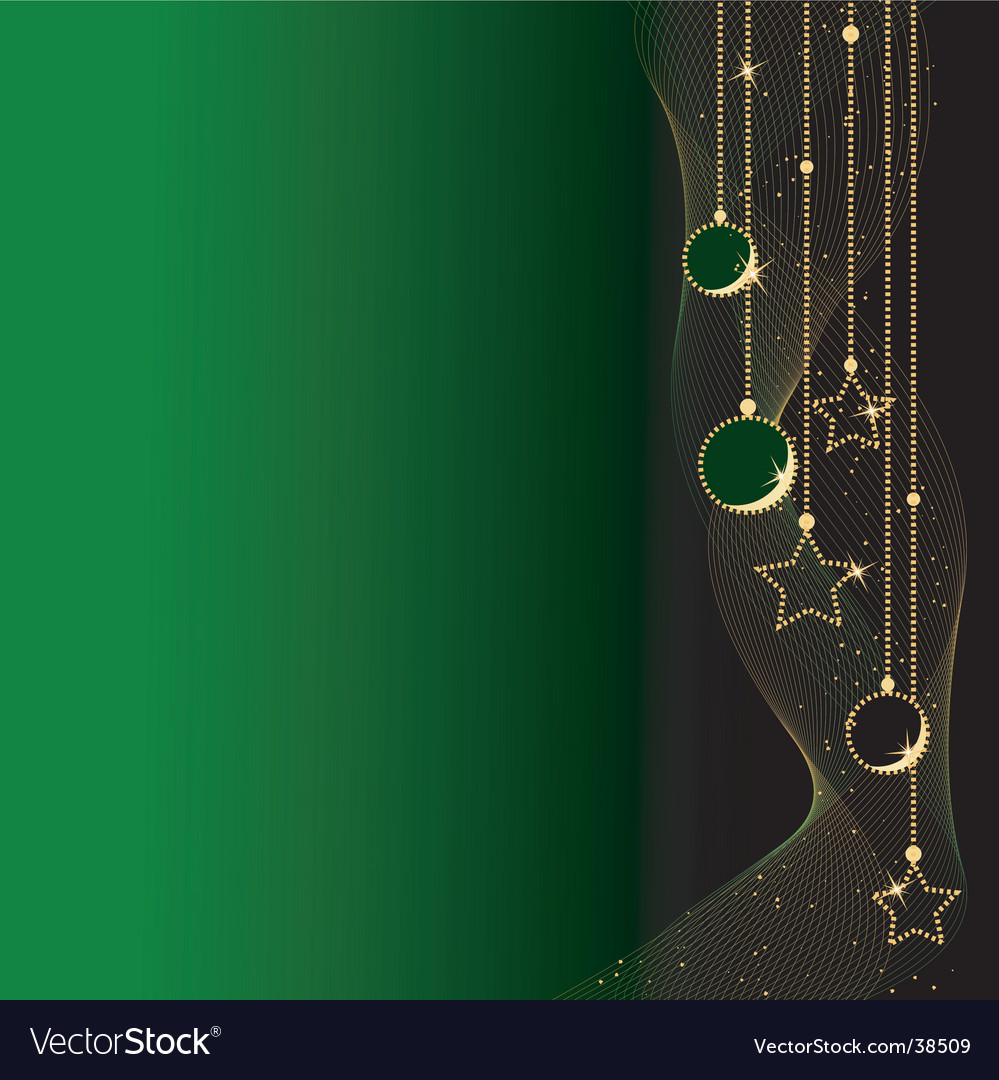 Elegant christmas balls and stars vector | Price: 1 Credit (USD $1)