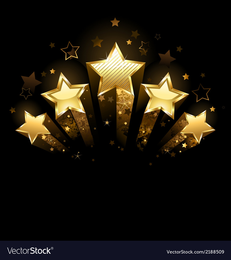 Five gold stars vector | Price: 1 Credit (USD $1)