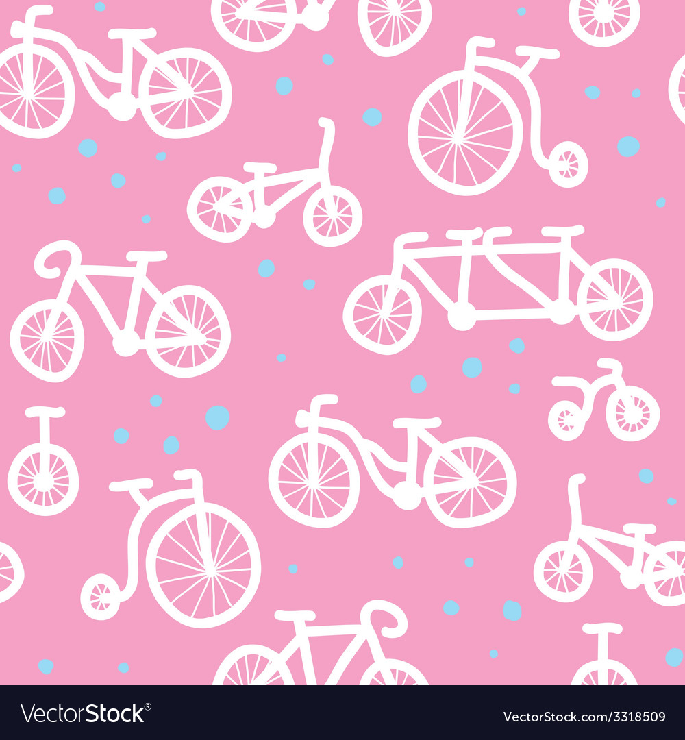 Hand drawn bicycle pattern vector | Price: 1 Credit (USD $1)