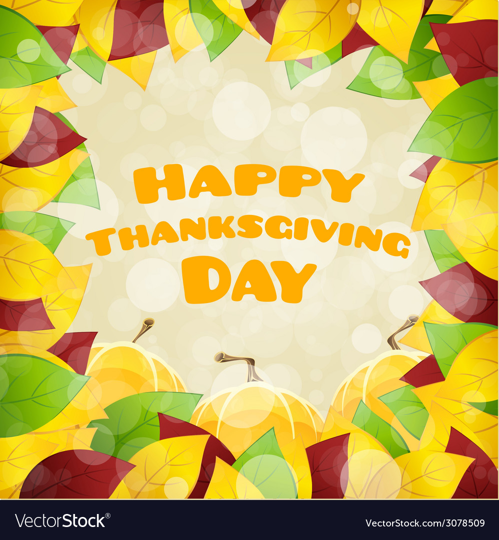 Happy thanksgiving day card vector | Price: 1 Credit (USD $1)
