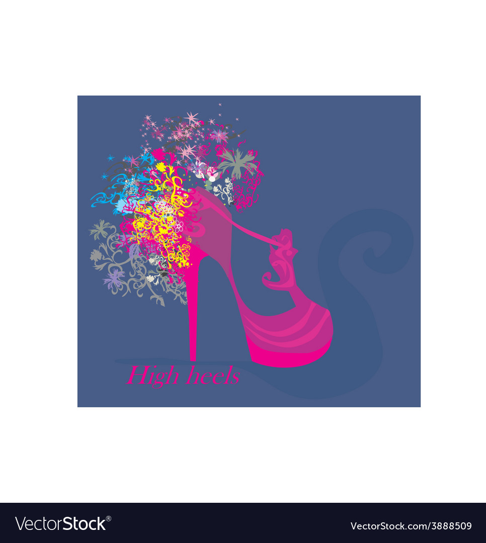 High heels background with place for you text vector | Price: 1 Credit (USD $1)