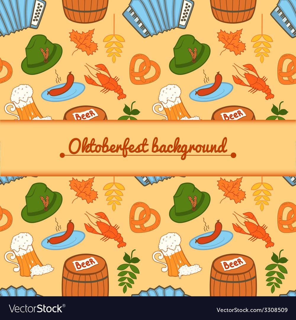 Oktoberfest background vector | Price: 1 Credit (USD $1)