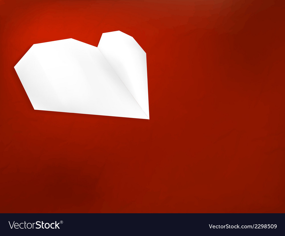 Origami heart on wooden background  eps8 vector | Price: 1 Credit (USD $1)