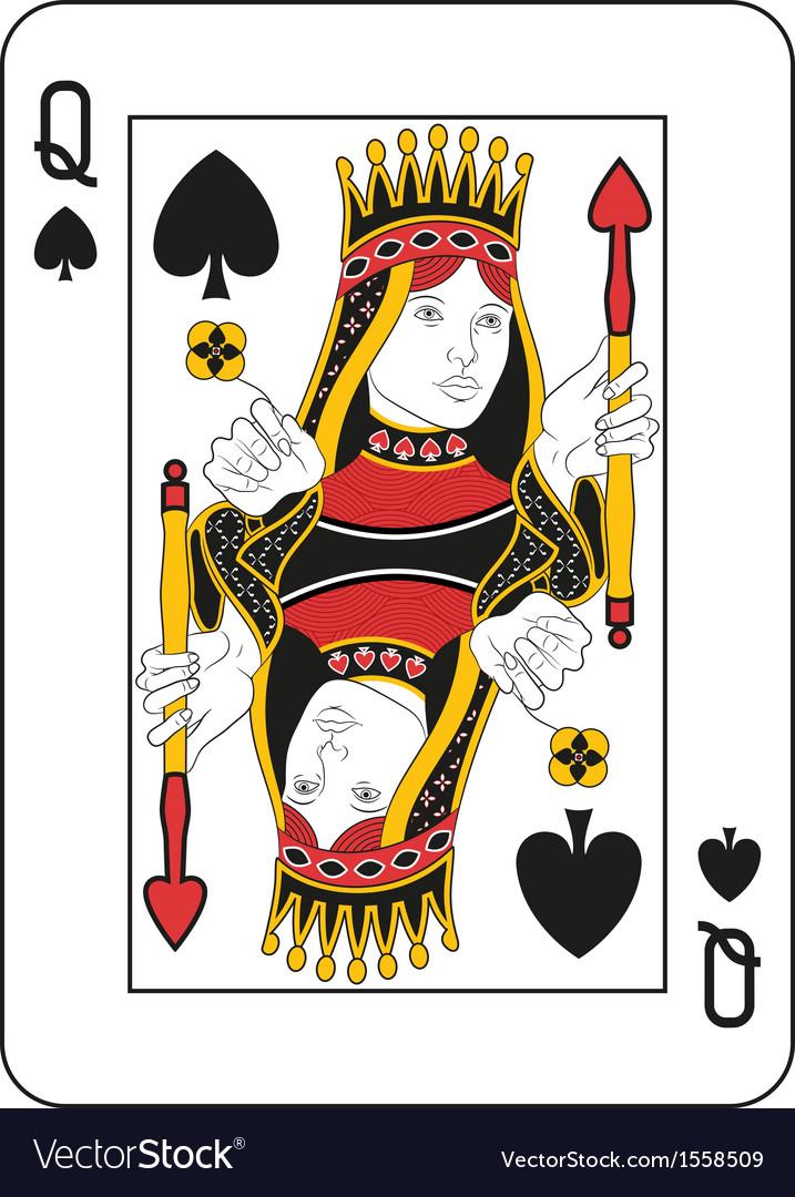 Queen of spades vector | Price: 1 Credit (USD $1)