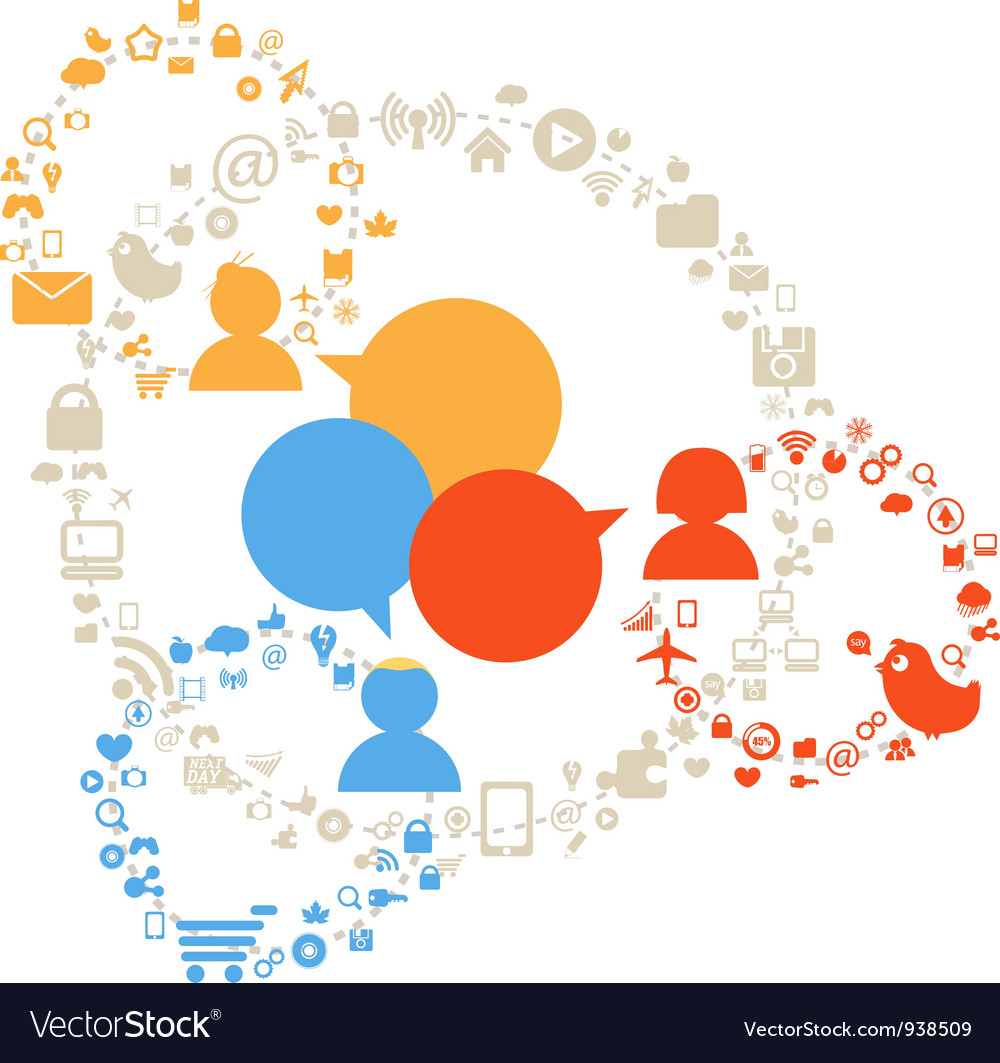 Social network diagram vector | Price: 1 Credit (USD $1)